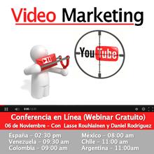 Webinar Gratuito: Cómo Vender Con YouTube y Video Marketing - Registrate YA !!